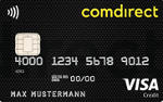 Abbildung der Comdirect Visa Karte
